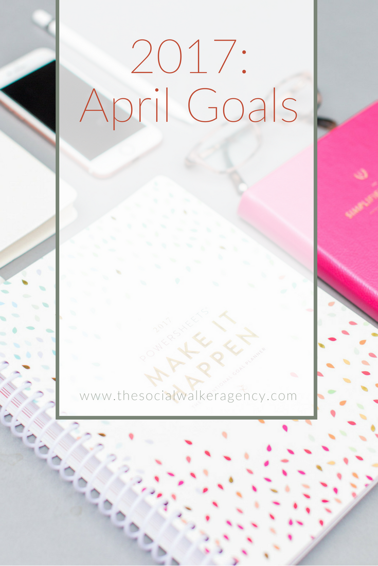 Well I suppose as much as I talk about my Powersheets on Instagram, it was finally about time to write about them! I won't make the commitment to go back and do January - March, but it is a possibility. I use Powersheets for personal & business. But for this post, I'm mainly focusing on my business goals.  |  The Social Walker Agency