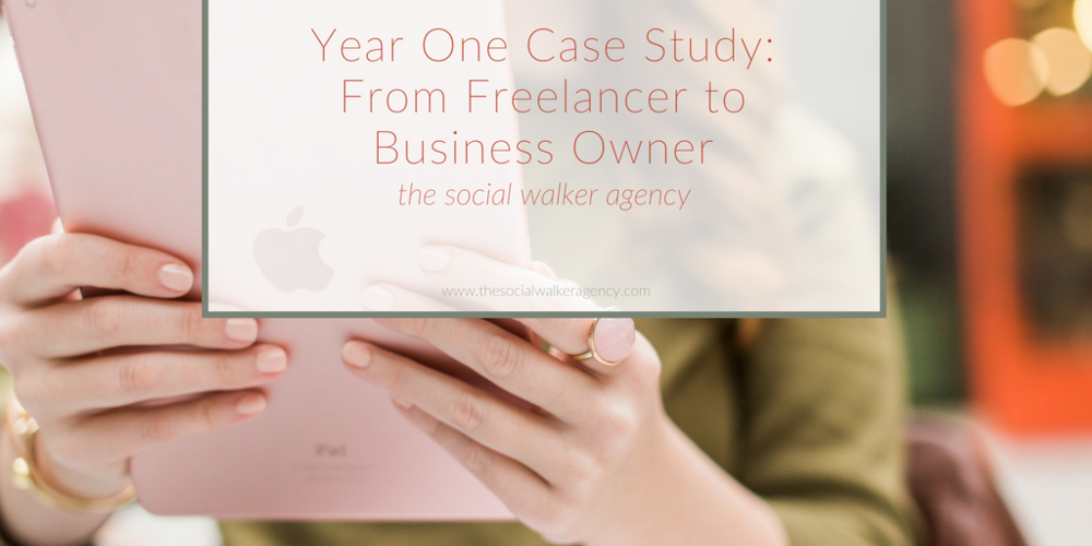 Year One Case Study: From Freelancer to Business Owner  |  The Social Walker Agency