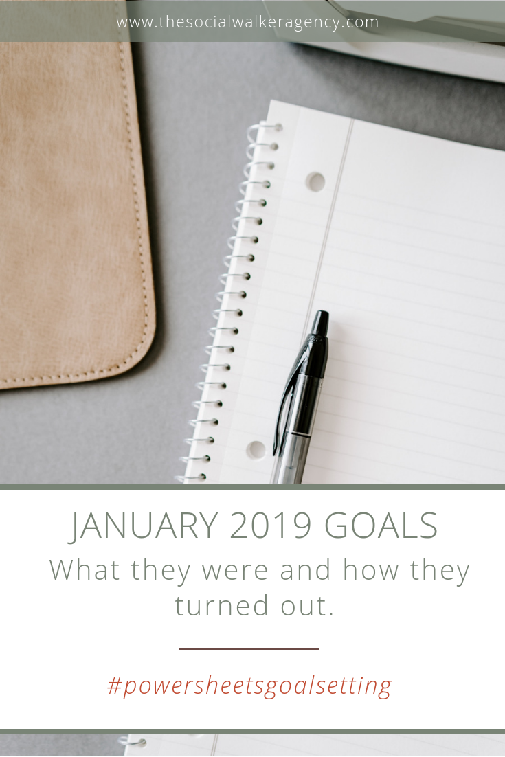 2019 is off to a pretty decent start, but I definitely have room for improvement this year!      The Social Walker Agency Blog