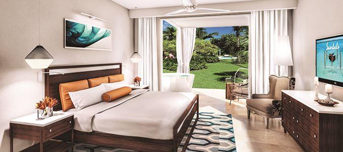 sandals ocean front suite