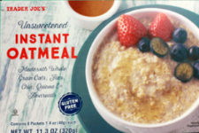 Trader Joe's unsweetened instant oatmeal.