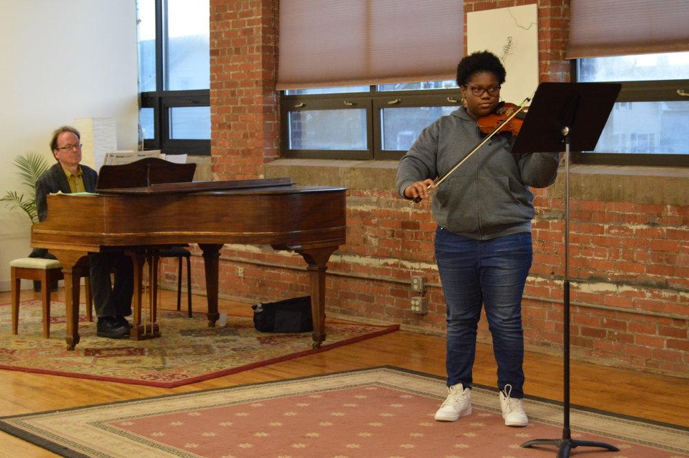 Reign at her spring studio recital in 2018