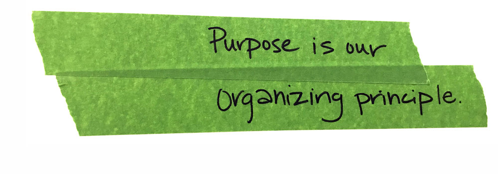 "Why purpose? - Purpose defines what we stand for in our careers and lives. As our friends at Imperative say ""It is the impact we want to have, to create the world we want to live in."" Purpose isn't a cause, a revelation, or luxury for the successful, it's something more achievable than that. The 28% of the U.S. workforce that seek to align purpose with their work can be found in every industry and role. At furtherd°, we see alignment as the key differentiator to solving the knottiest of problems."