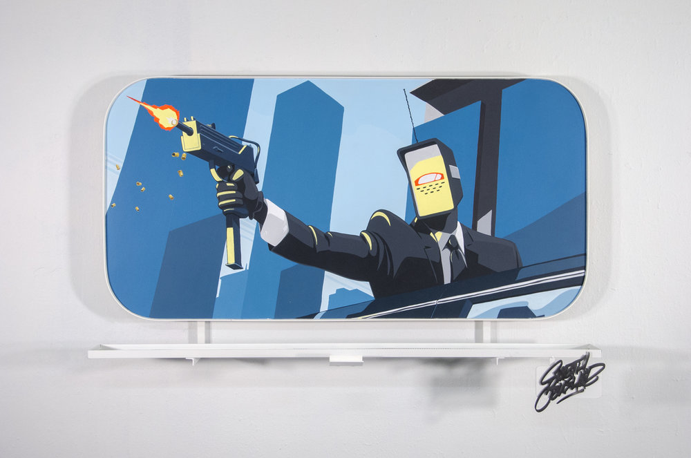 Ashop-Earth Crusher-Billboard art-Montreal