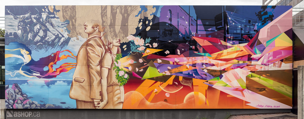 ANKHONE - 375th Anniversary celebration mural Montreal 2017