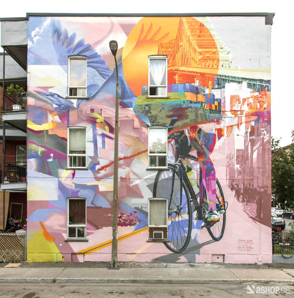 ANKHONE - Community project mural Montreal 2016