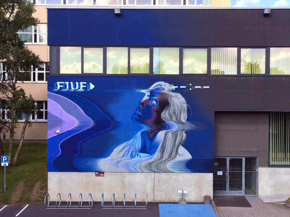 Ashop-Five8-Exterior mural-Estonia-2017