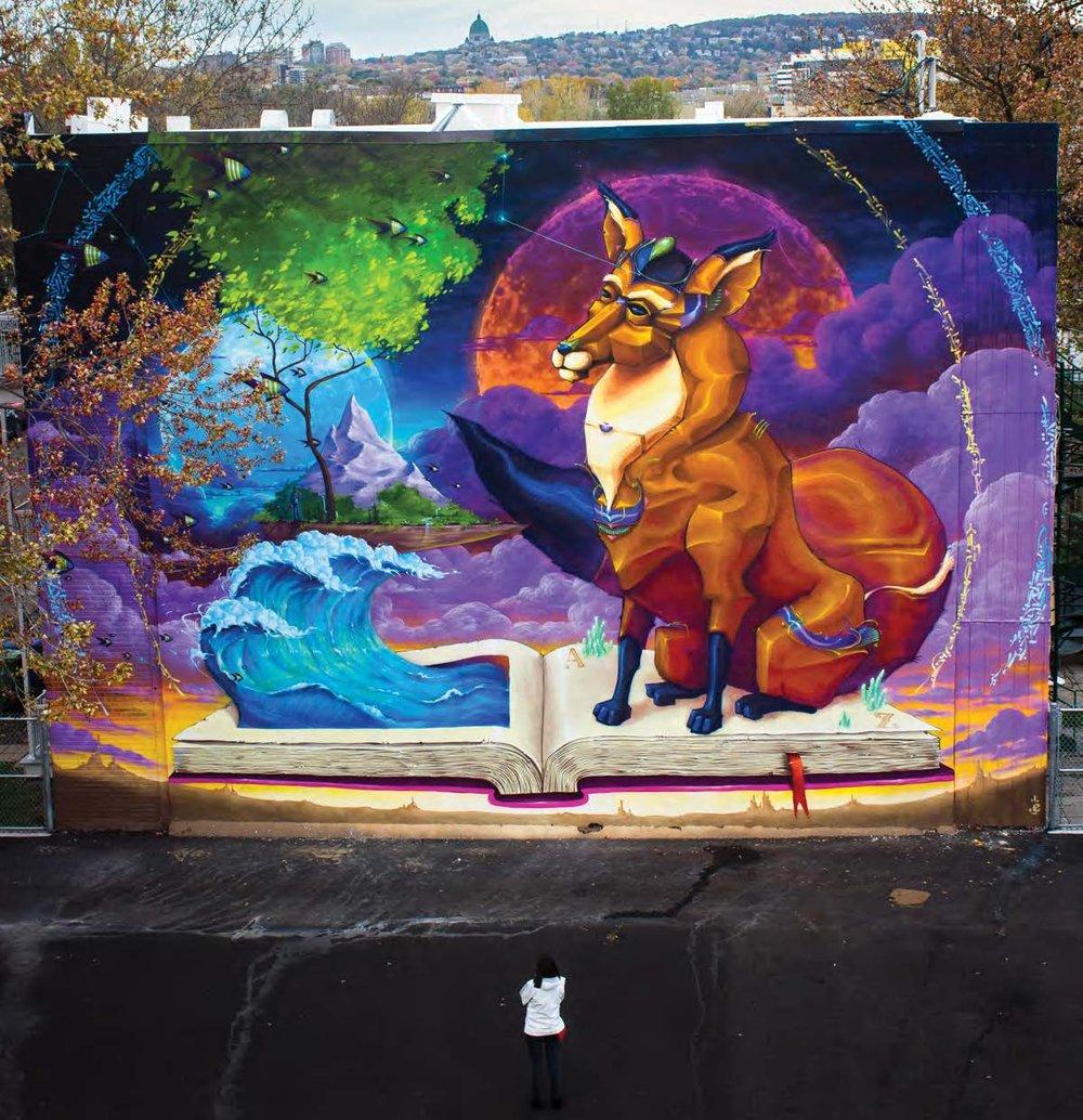 Ashop-Monk.e-NDPS School-Exterior mural-Montreal-2017