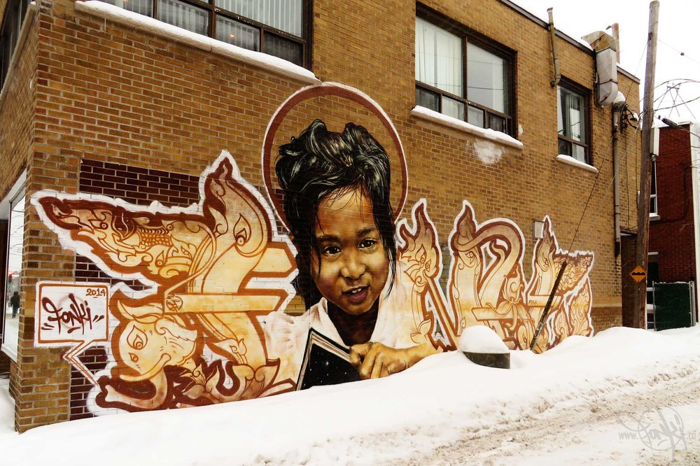 Ashop-Fonki-Green Alley mural-Montreal-2014