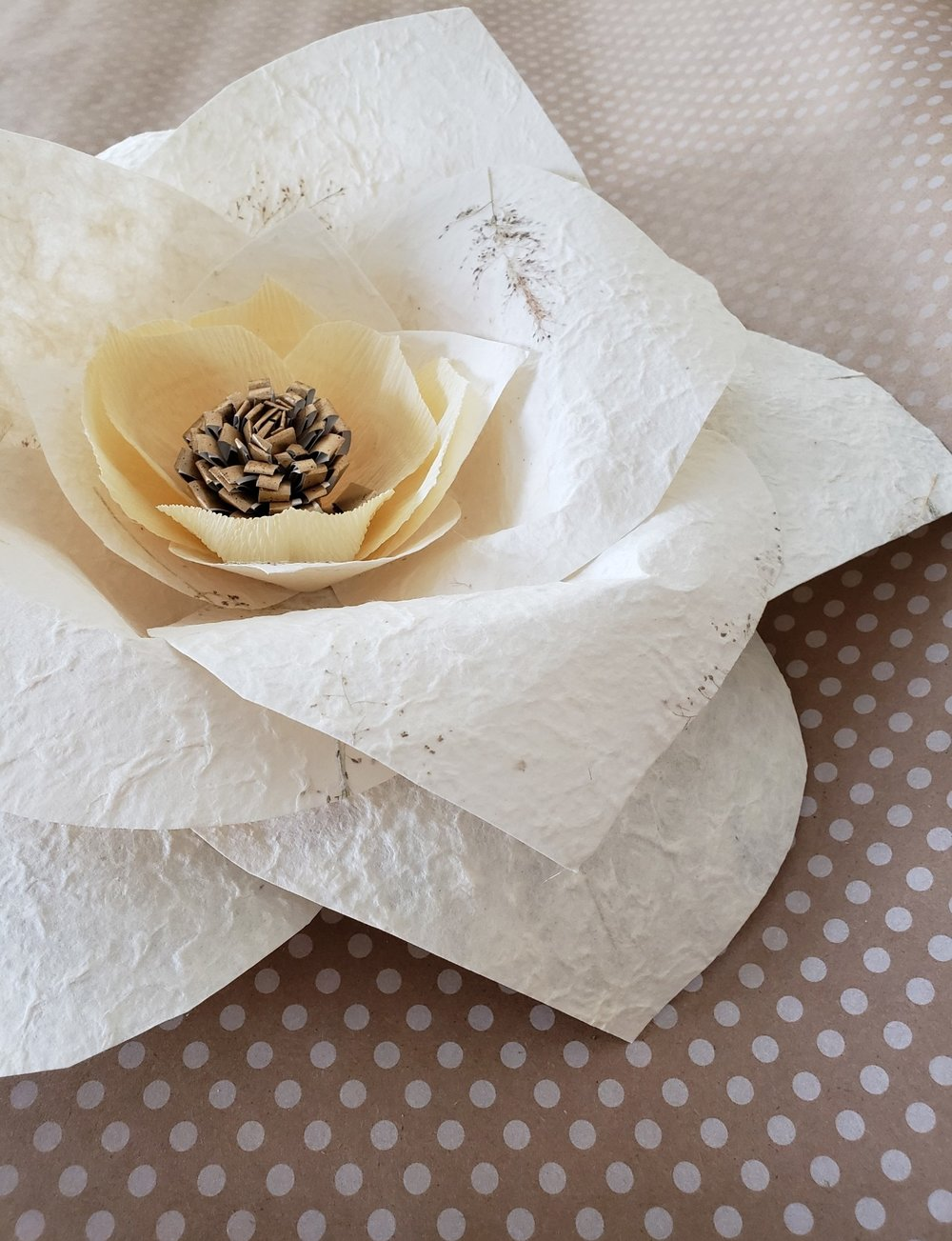 Homemade Recycled Paper Flower Those Lovely Roots