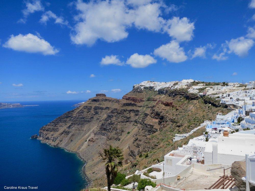 Town of Oia in Santorini
