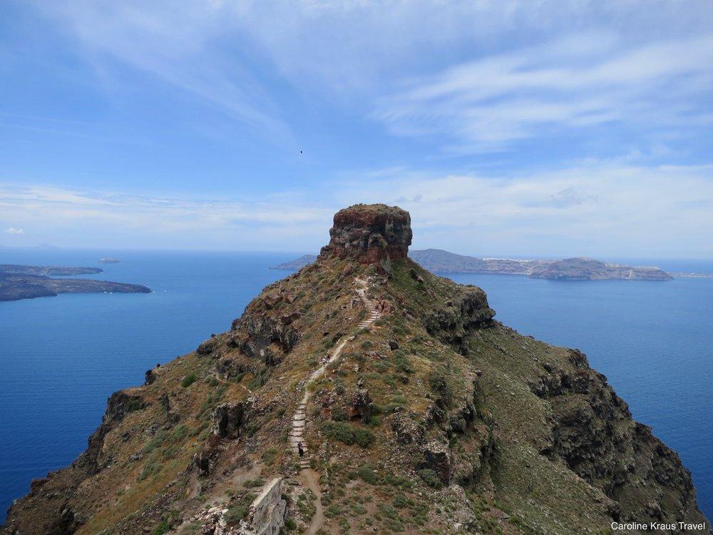 Skaros Rock trail –Santorini, Greece