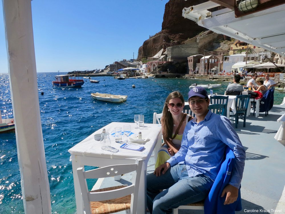 Lunch at Dimitris Ammoudi in Santorini
