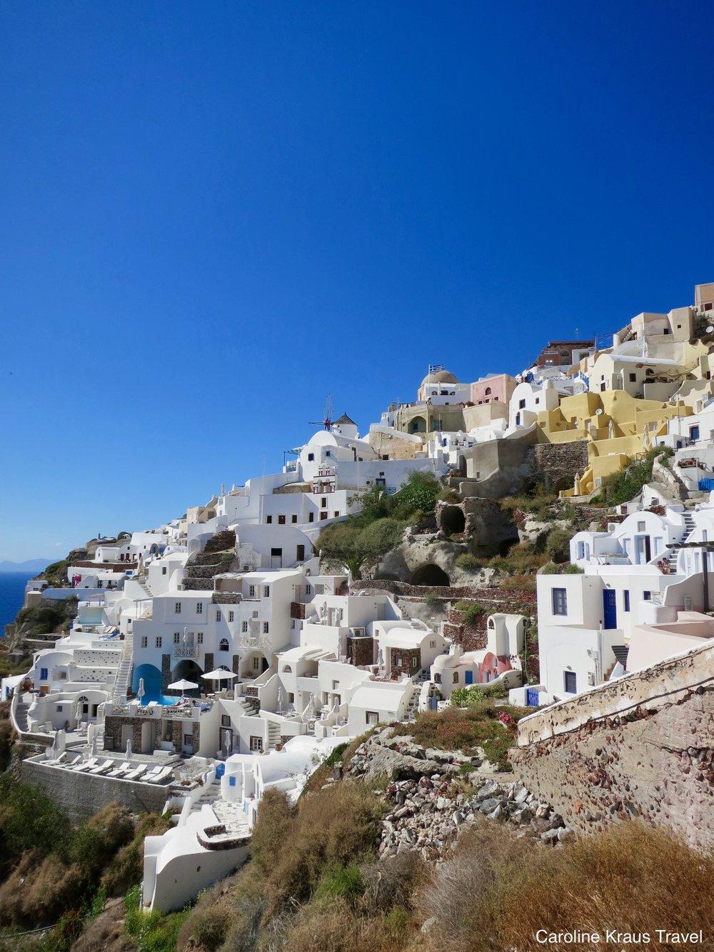 Town of Oia, Santorini, Greece