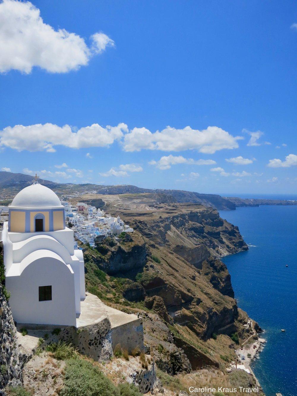 Imerovigli, a village on the island of Santorini