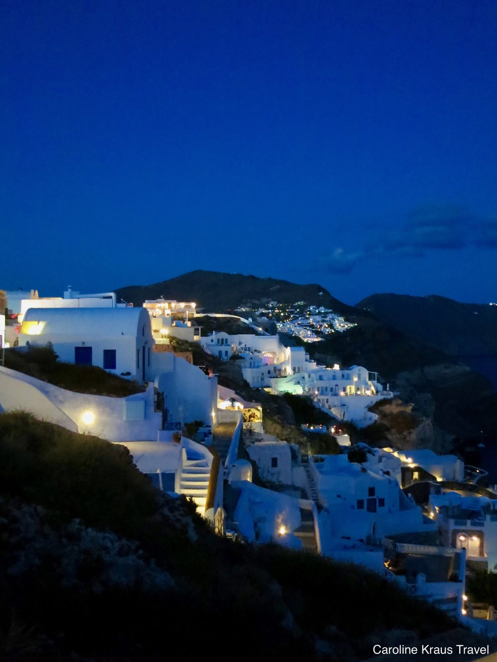 Imerovigli, Santorini, Greece at night