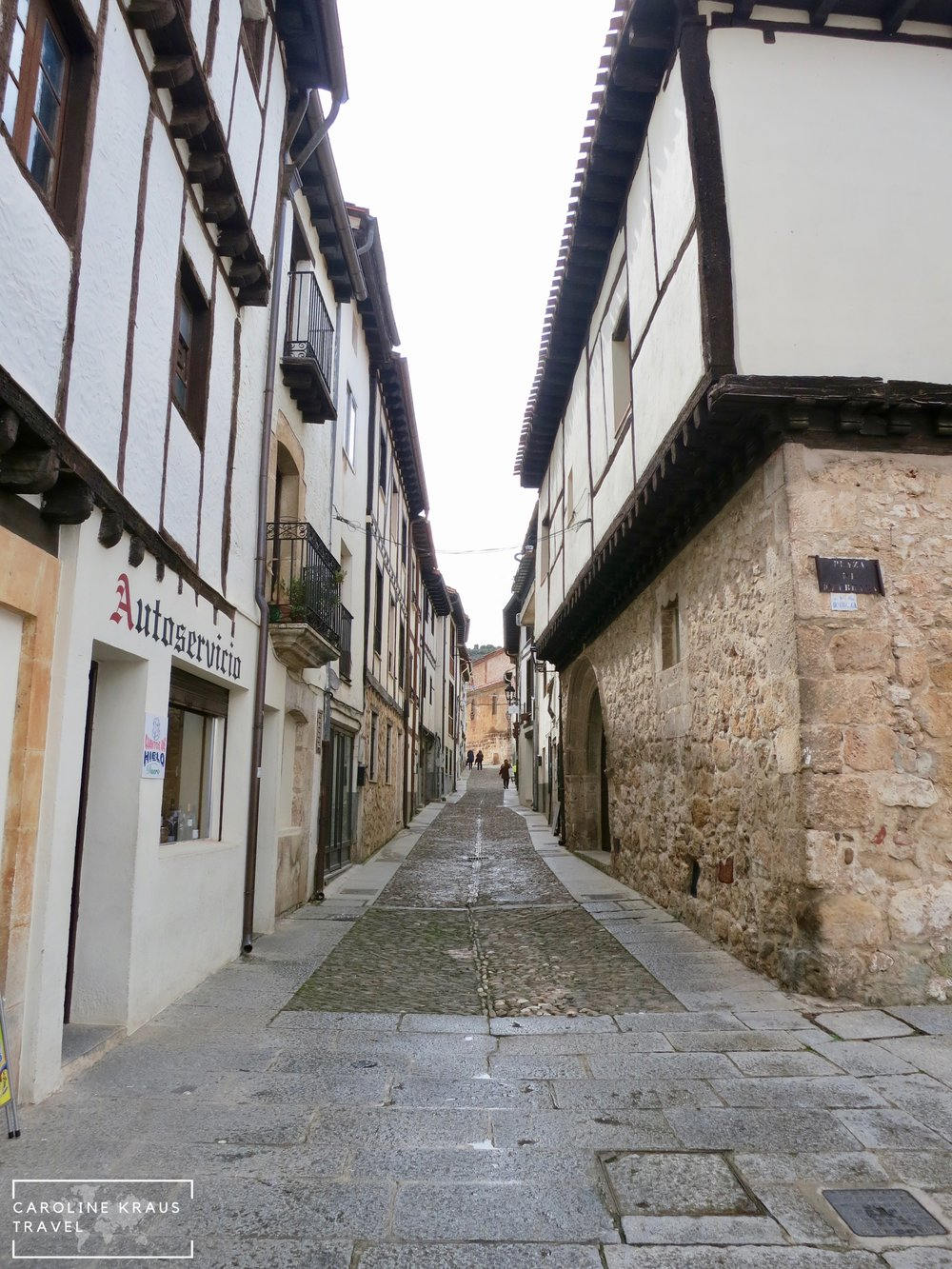 The streets of Covarrubias, Spain