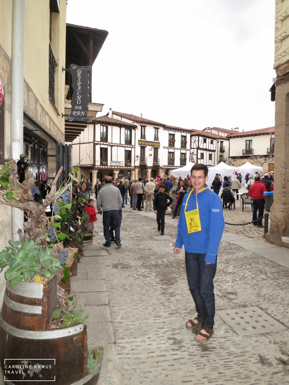 At the wine festival in Covarrubias, Spain