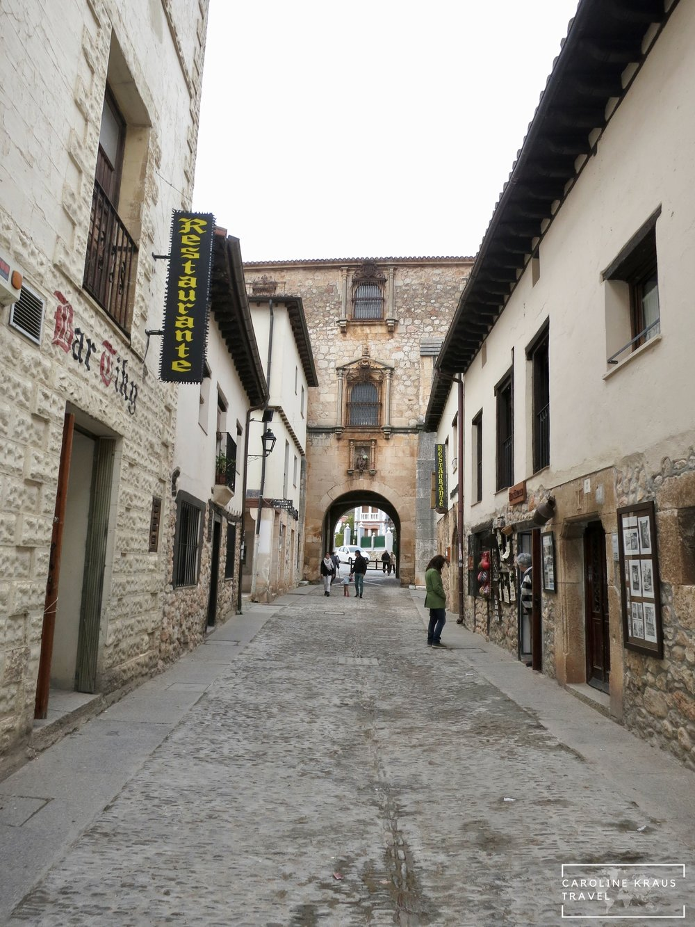 The streets and walls of Covarrubias, Spain