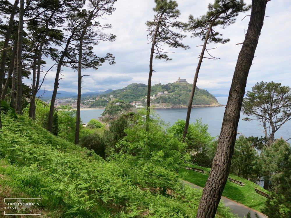 Hiking Mount Urgull in San Sebastian, Spain