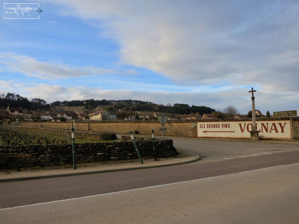 Biking into the town of Volnay