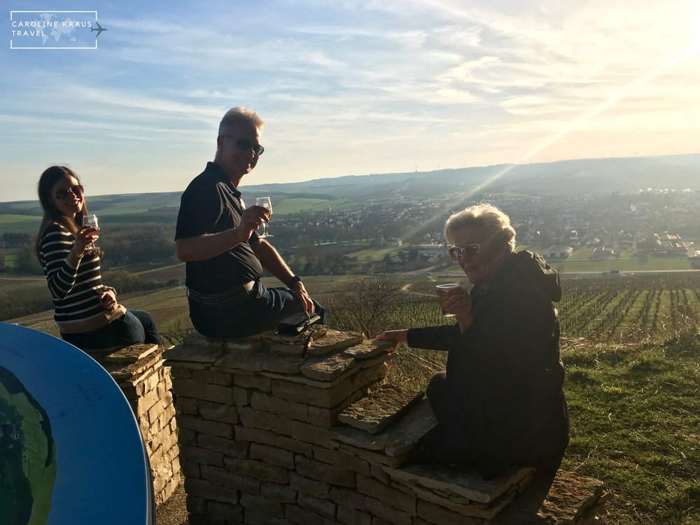 Overlooking the Grand Cru vineyards and town of Chablis