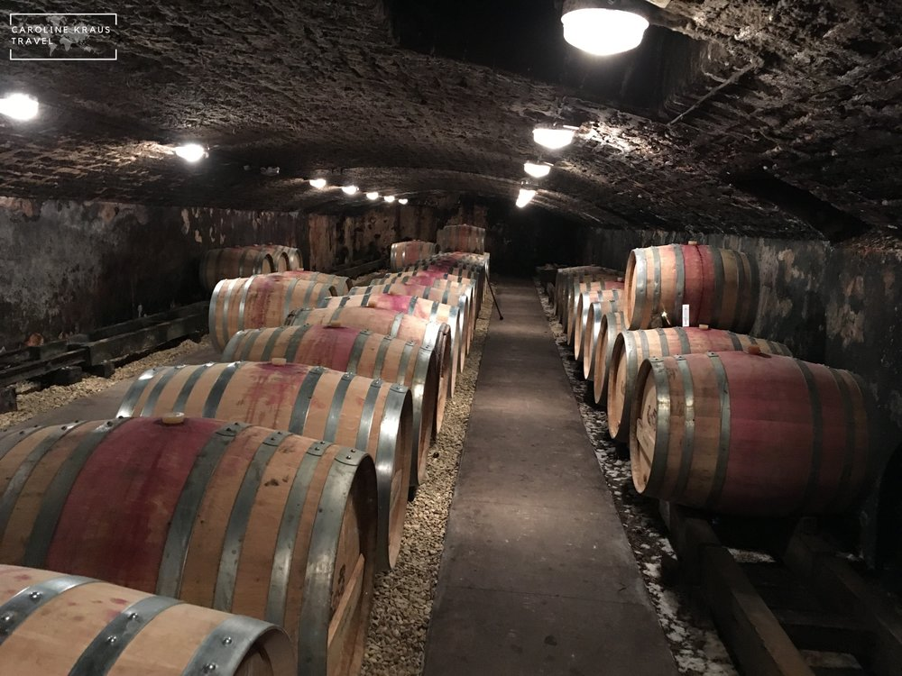 The wine cave at Domaine Francois Buffet wine cave