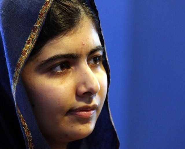 """One child, one teacher, one book, and one pen, can change the world"". #MALALADAY"