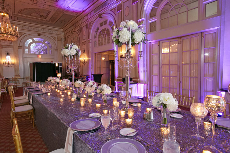 Soft Grey, Lavender, and White Wedding at the Brown Hotel ...