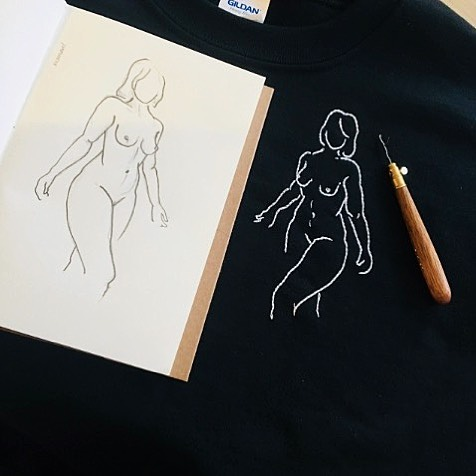Head to our blog to find out how Jazz Moodie is empowering the nude body through her embroidery ~ use the code GROUNDERS10 for a discount at @jazmoodie