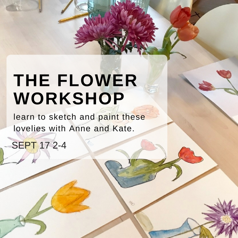 Watercolor Flower Workshop - This one is back by popular demand! Its a bit of drawing a bit of painting and a ton of fun! Grab a friend, BYOB, all supplies are included. Oh! and no experience necessary!SIGN UP HERE