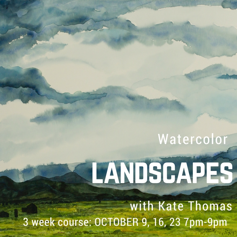 Landscape WatercolorClass - This is a 3 week class all about learning the medium of watercolor and exploring the wonderful world of landscapes. This is a great follow up to the summer watercolor classes, however, there is no experience necessary.SIGN UP HERE