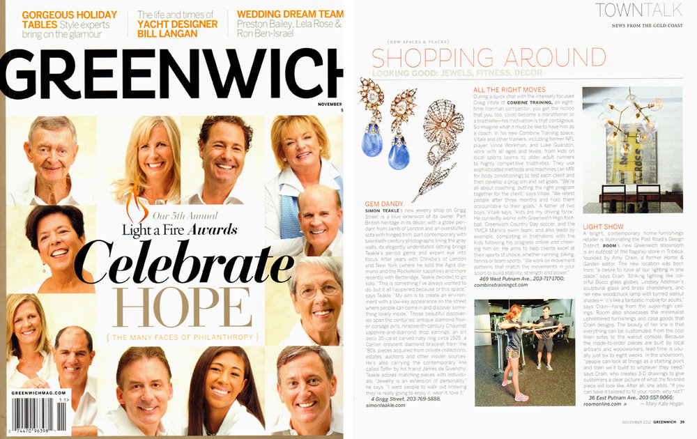 Greenwich Mag Nov 2012 Cover and page