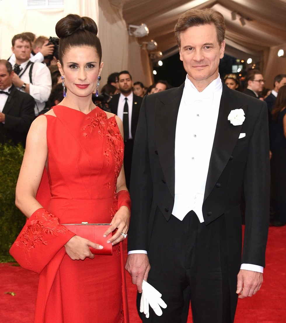 "NEW YORK, NY - MAY 04:  Livia Giuggioli and Colin Firth attend the ""China: Through The Looking Glass"" Costume Institute Benefit Gala at the Metropolitan Museum of Art on May 4, 2015 in New York City.  (Photo by Larry Busacca/Getty Images)"