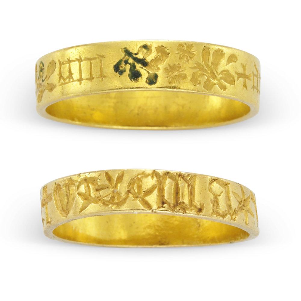 Gold Posy Rings English 15th Century Simon Teakle