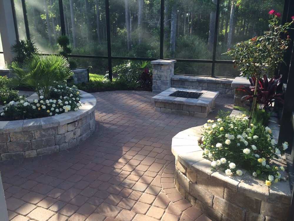 Hardscapes & Pavers      Backyard Designs only uses the highest quality materials to create your one of a kind masterpiece.  Elegant walls, fireplace and fire   pits add a new level of sophistication to your      outdoor space.