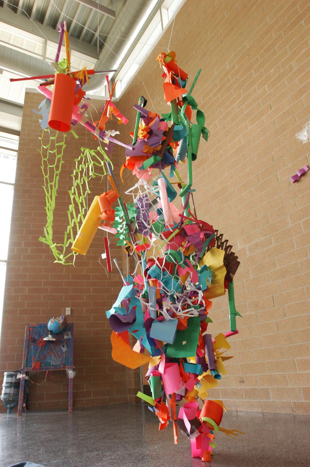 Paper sculpture project collective.