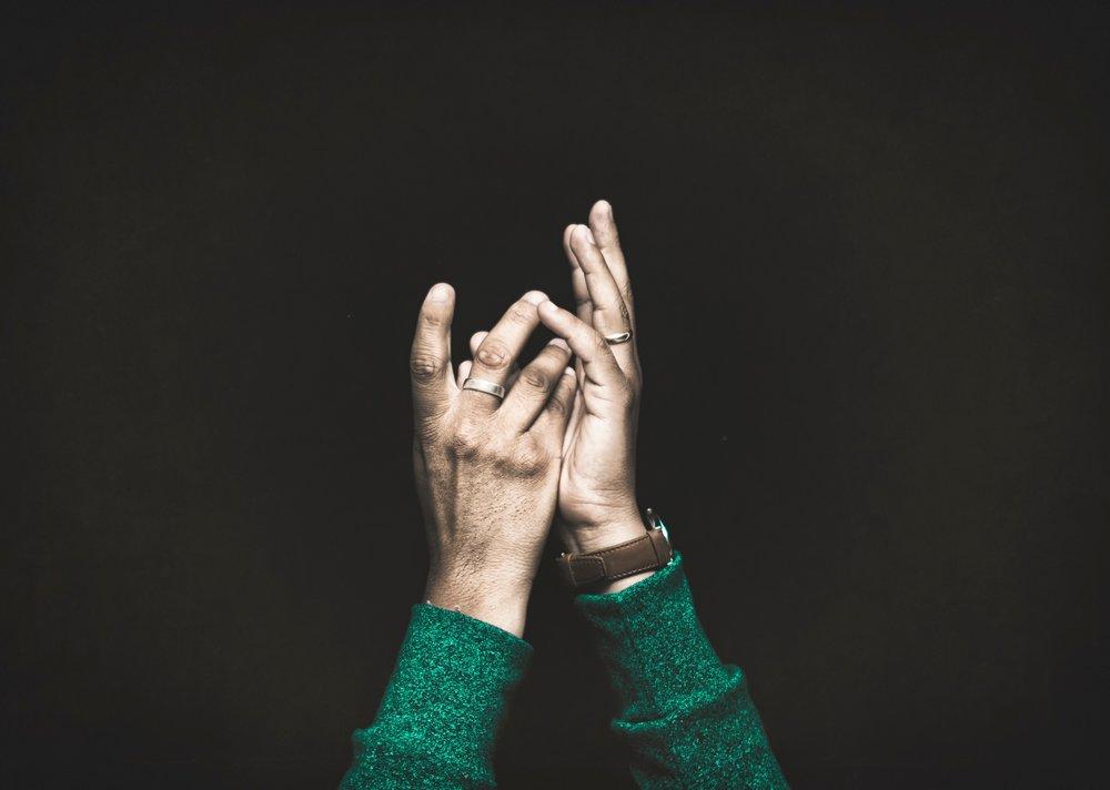 grief hands