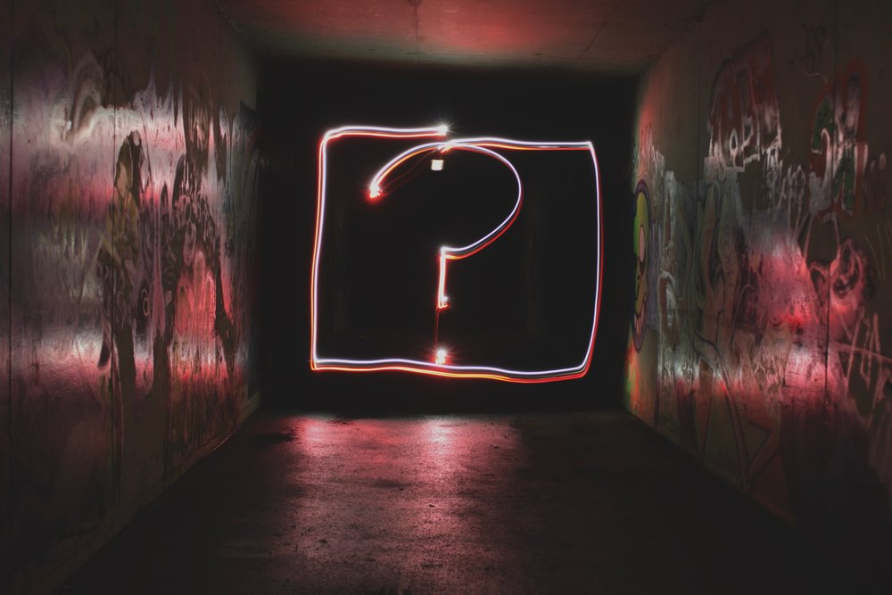 question mark intuition sign