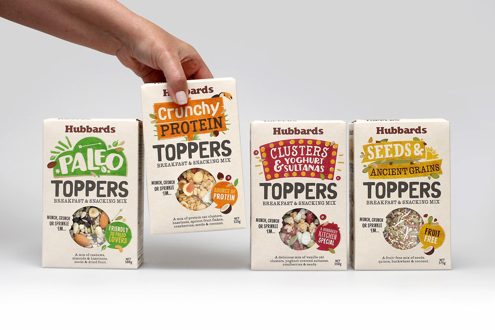 Background     Breakfast and snacking consumption is trending. Consumers are seeking ways to personalise their eating experiences for lifestyle, health or simply to boost the taste and texture they desire. Hubbards responded to this trend by launching a range of pre-mixed nuts, fruits and seeds to satisfy the different needs of these 'tinkering' consumers.