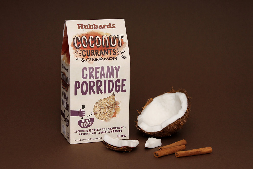 Background  Porridge is on trend! With the discovery of previously overlooked health benefits of oats, overseas product innovation and challenger brands are changing the perception of porridge from traditional (and Scottish) fare to 'modern cool'. Hubbards identified this untapped opportunity in the New Zealand porridge sector where little innovation and 'traditional' values still prevail.