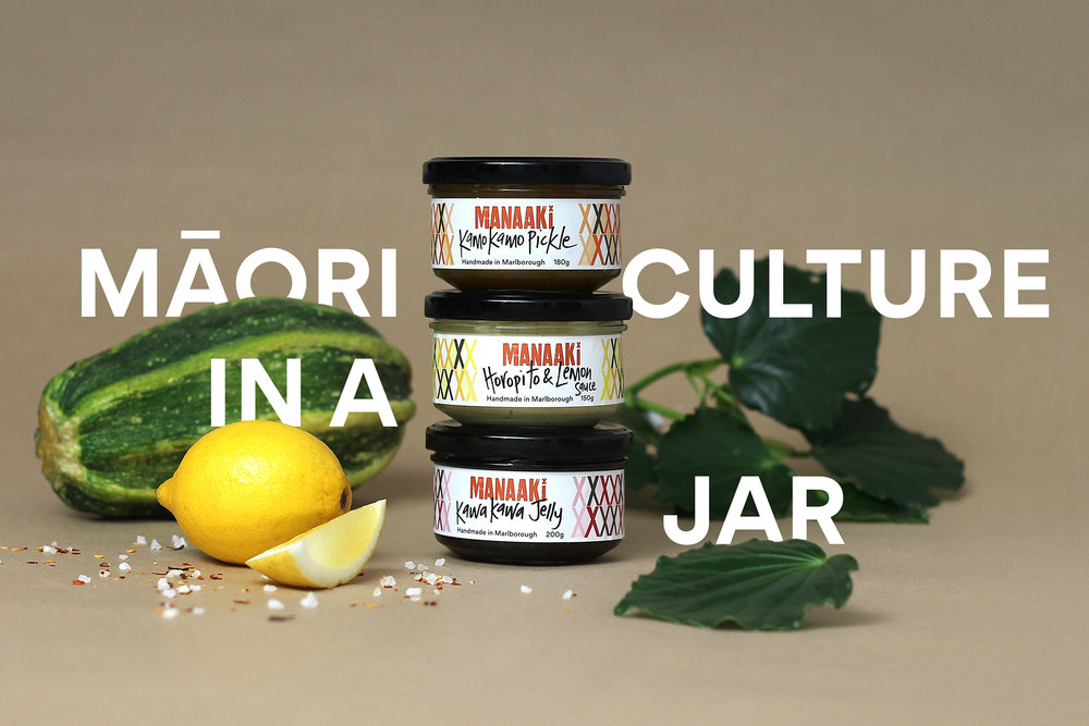Background     Manaaki is a range of handmade preserves and condiments using traditional Māori ingredients, targeted at the modern foodie looking for a new eating experience. The word Manaaki stands for hospitality, showing care and respect for others.    Developed as a social enterprise by Omaka Marae, Manaaki is part of a long term business strategy to create opportunities for the wider marae family. By learning the skills needed to grow, harvest, produce, market and sell, they aim to remain self sustaining and self determining. Coats were engaged by the management team of the Marae to develop a brand and packaging design that would combine their traditional and progressive values, connecting the Manaaki story with a modern audience.