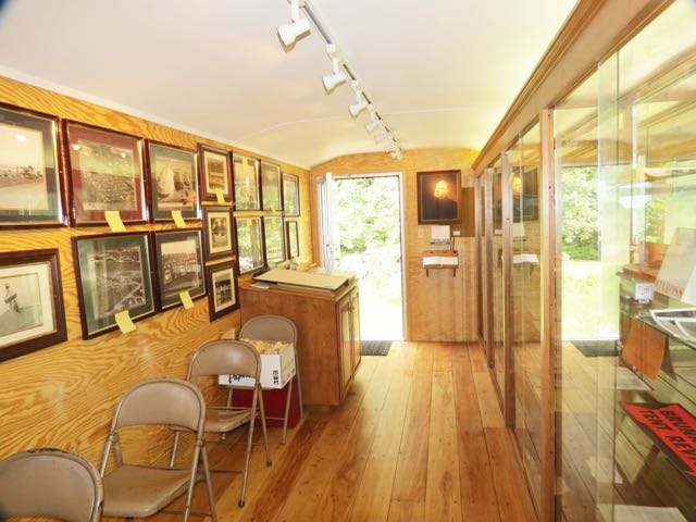 Interior view of the Brunk Revival Trailer exhibit