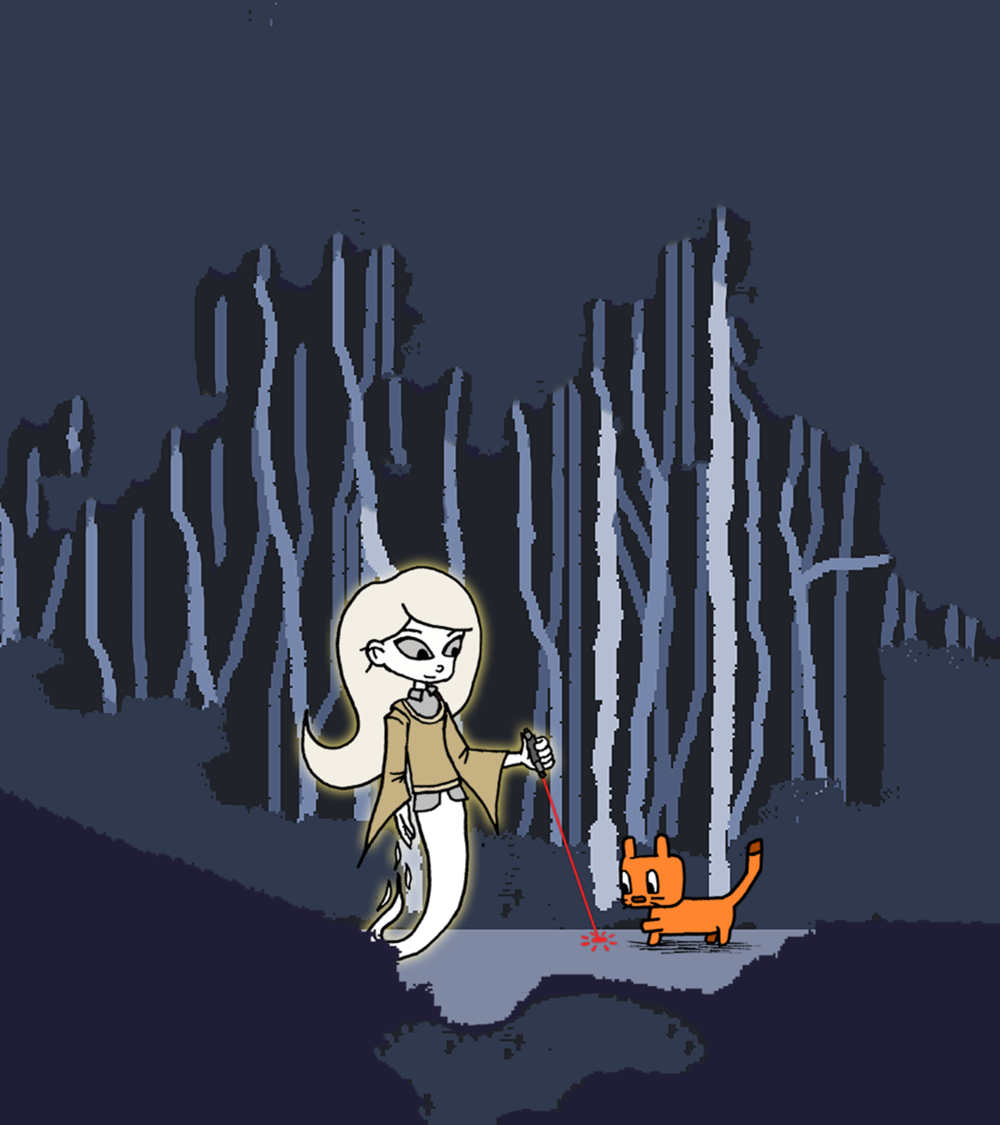 GHOST GIRL + KITTEN   Web Game Design and Development