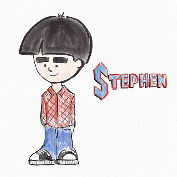 Playing around with the drawing app on my new iPad with Apple Pencil. Here's a picture of my son Stephen.