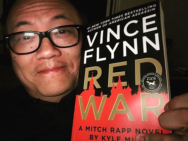 Woohoo! I just received a pre-released review copy of the next Mitch Rapp book! Vince Flynn is my all-time favorite thriller author and Kyle Mills has done a good job taking over the franchise. I'll write a review after I'm done.  #mitchrapp #vinceflynn #kylemills