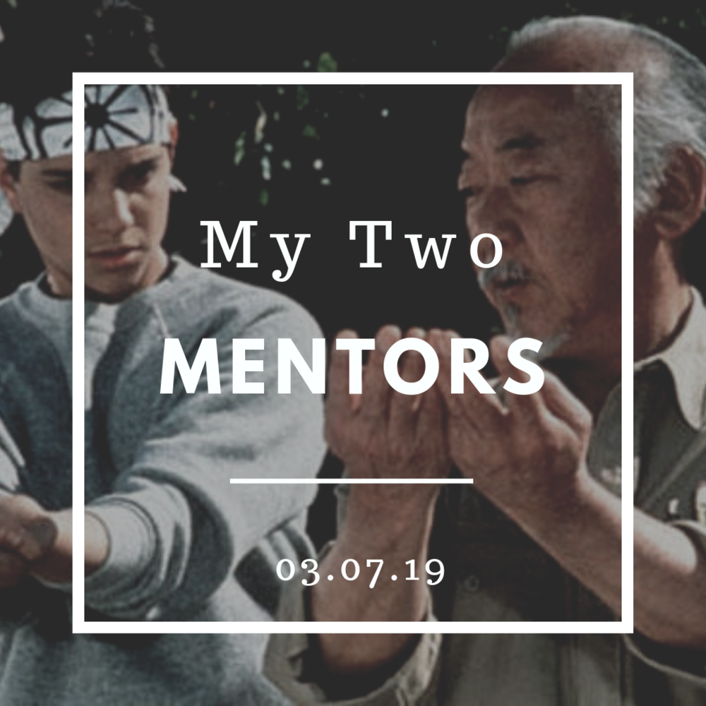 Mr. Miyagi is my favorite mentor from the movies. Obi-Wan is a distant second because he doesn't stick around long enough.