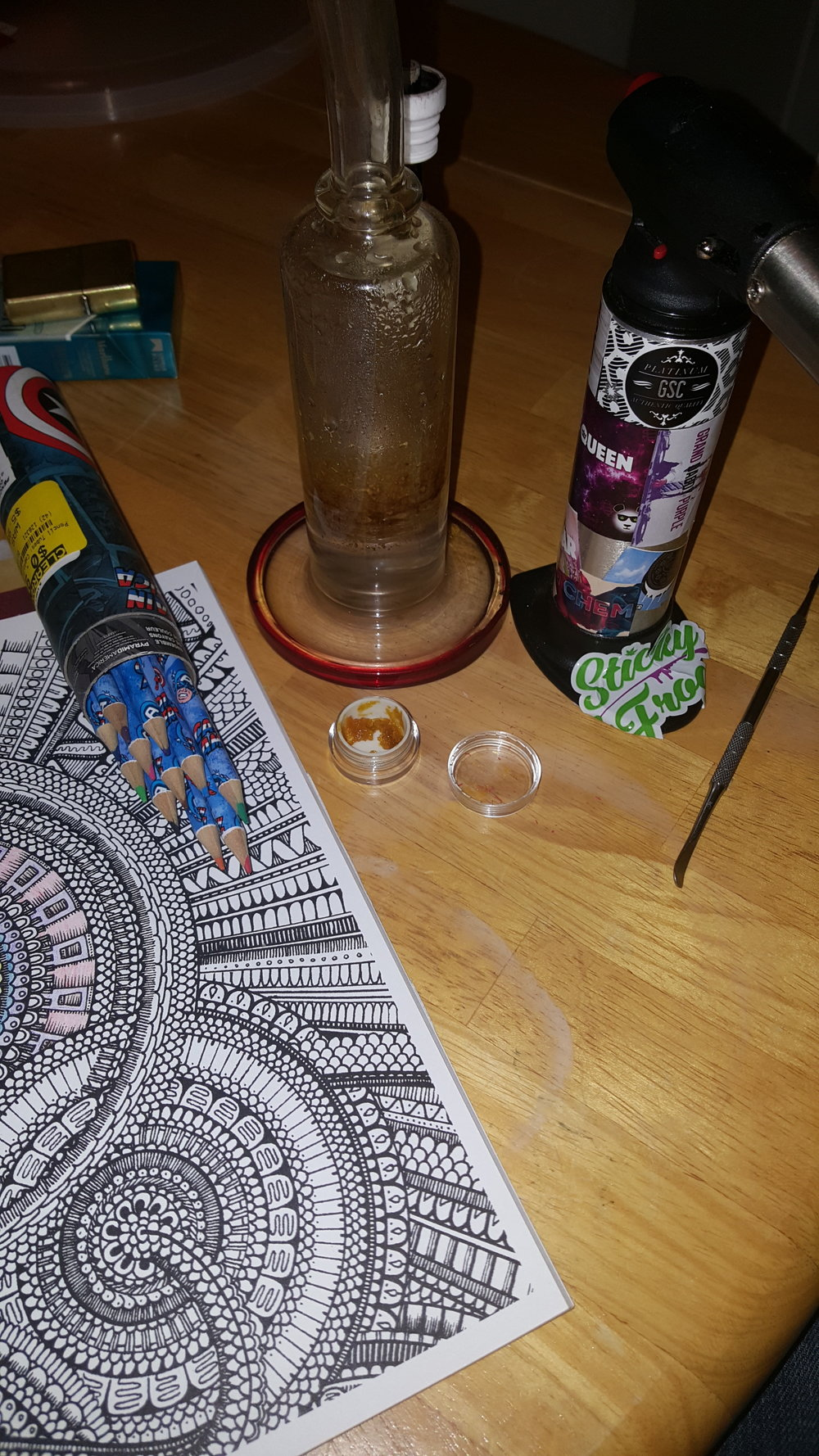 Dabbing Pineapple Express & Coloring By Budtender Chris