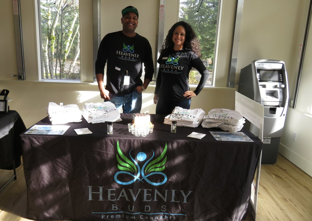 Heavenly Buds brought sniff jars of their most popular marijuana strains! We can't wait to have them back in Bellevue.
