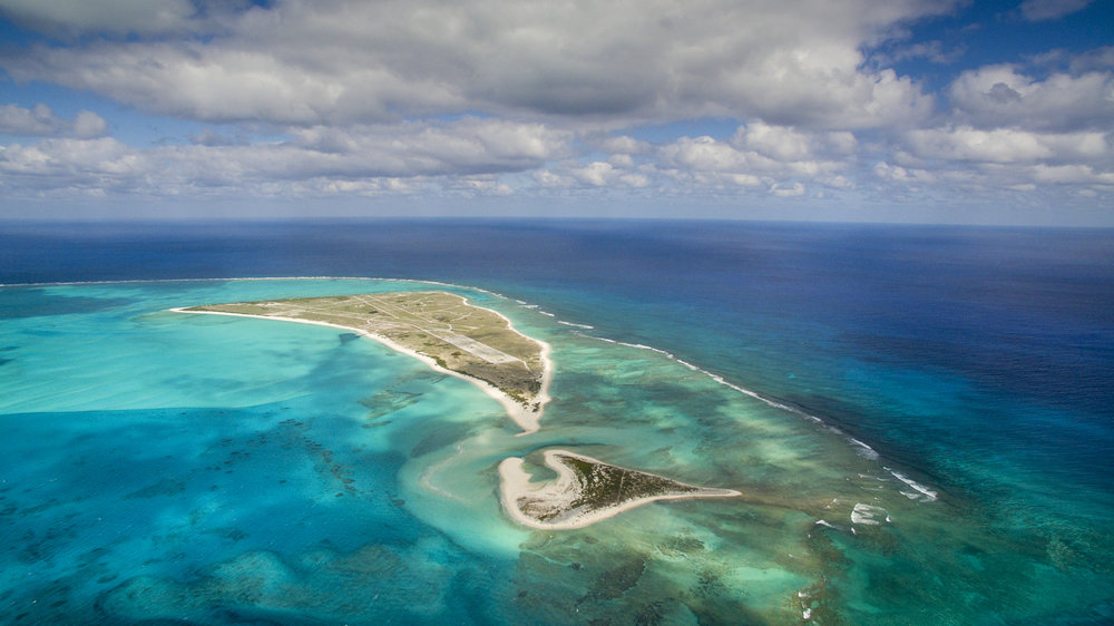 Midway Atoll National Wildlife Refuge and Battle of Midway National Memorial. (Ian Shive/USFWS)